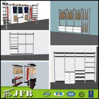 Wholesale aluminum  profile for inside pole system bedroom sets walk in wardrobe with shoes rack from china suppliers
