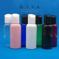 Wholesale 50ml PET Refillable Plastic Bottle Portable Bottles with Disc Cap from china suppliers