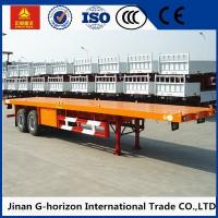 Wholesale Double Axles 20ft 40ft Flat Bed Semi Trailer 2 axles container semi truck flatbed from china suppliers