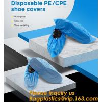 Wholesale Safety Products Equipment Indoor Disposable medical plastic shoe covers waterproof PE CPE material,PE material blue shoe from china suppliers