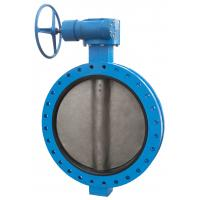 China D343H/F Worm drive flange metal hard seal butterfly valve on sale