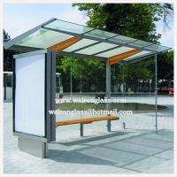 Wholesale Silk Screen, Clear Tempered/Toughened Glass for Advertising Bus Stop from china suppliers