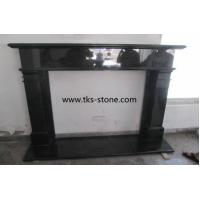 Wholesale Indian black,Absolute black granite fireplace,fireplace mantel,natural stone fireplace from china suppliers