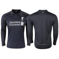 Wholesale Balance Liverpool Black Jersey Long Sleeve Mens Polo Shirt 100% Polyester from china suppliers