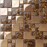 Wholesale Gold Stainless Steel Kitchen Backsplash Mosaic Tiles For Kitchen Table Top from china suppliers