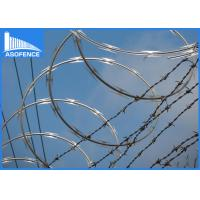 Wholesale Hot Dipped Galvanized Razor Barbed Wire For Highway / Railway , High Anti Corrosion from china suppliers