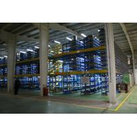 Wholesale Multi-tier Steel Flooring Industrial Mezzanine Floors Blue / Yellow With 7.5m Height from china suppliers