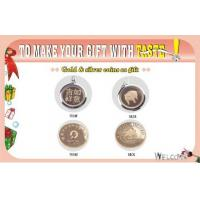Wholesale Unique Gift    Gold or Silver Coin    Fine Gold and Silver, Not Plating from china suppliers