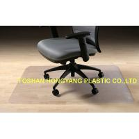 Wholesale Rectangular shape Office Floor Mats Tounge , Waterproof computer chair mat from china suppliers