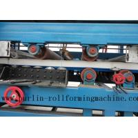 Quality Colored Steel PU Sandwich Panel Production Line , Roof Panel Roll Forming Machine for sale