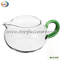 Wholesale Borosilicate glass milk mug with colored handle from china suppliers