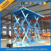 Quality 6T 5M Heavy Duty CE Hydraulic Scissor Lift Hydraulic Large Scissor Cargo Lift for sale