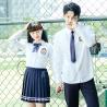 Girls International Middle High Teen School Uniform Shirt Korean White Long for sale