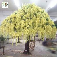 Wholesale UVG yellow wisteria blossoms large artificial trees for birthday and party decoration from china suppliers