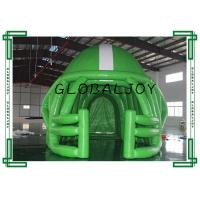 Wholesale 0.5mm PVC Sport Advertising Inflatables , Green Inflatable Football Tunnel from china suppliers
