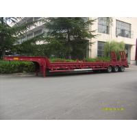 Wholesale Heavy Duty 60 Tons Low Bed Truck Trailer , Platform Semi Trailer For Excavator Transportation from china suppliers