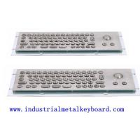 Wholesale Mini USB Industrial Keyboard With Trackball 800dpi , 68 Keys Silicon Rubber Switch from china suppliers