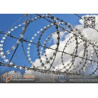Wholesale Cross Coil Concertina Razor Wire Cross Coil BTO-22  Anping Razor Wire Factory from china suppliers
