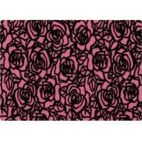 Wholesale 100% Polyester Rose Patterned Flocked Velvet Fabric 140-150gsm from china suppliers