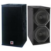 Wholesale dual 18'' bass bin 1200W indoor outdoor subwoofer hi-fi concerts big shows loudspeaker professional speaker box system from china suppliers