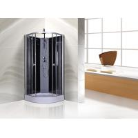 Wholesale Circle Grey Quadrant Shower Cubicles 900 X 900 X 2250 MM ABS Tray Chrome Profiles from china suppliers