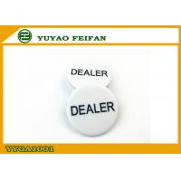 Wholesale Melamine Material Engrave Dealer Button For Texas Hold ' em Poker Game from china suppliers