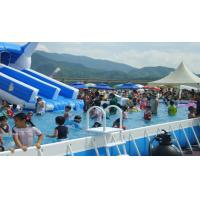 Wholesale PVC Stent Family Pool Removable Small Frame Inflatable Swimming Pool With Bumper Boat from china suppliers