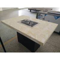 Wholesale Non-Stick Painted Cast Iron Rectangle Plate Restaurant Hibachi Grill / Barbecue Grill Table from china suppliers