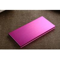 Wholesale Ultra Thin 12000mAh Portable Power Bank , Metal Double USB Power Pack from china suppliers