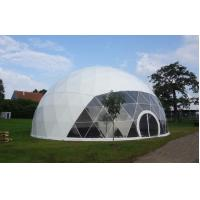 Wholesale Large Metal Frame Waterproof PVC Cover Geodesic Dome Tents 100Km/h from china suppliers