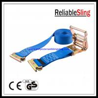 Wholesale Polyester webbing E Track Ratchet Straps , truck ratchet tie down straps from china suppliers