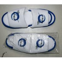 Wholesale Waffle, non woven and cotton Open or close embroidered Logo Toe Hotel Slipper from china suppliers