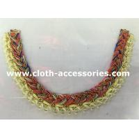Wholesale Yellow And Red Handmade Beaded Necklaces Knitting For Garment Accessories from china suppliers