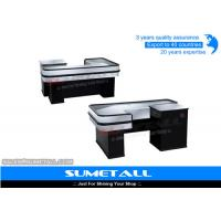 Wholesale Steel Body Grocery Store Checkout Counter Casher Table With Corrsion Protection from china suppliers