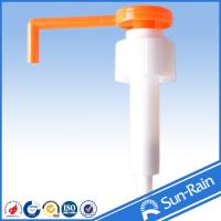 Wholesale Orange & white long nozzle plastic 28mm lotion pump for medical use from china suppliers
