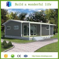 low cost warehouse EPS/rockwool insulation prefab steel container vila house