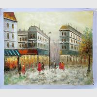 China Canvas Paris Oil Painting ,Thick Oil Paint Palette Knife 30 X 40  36 X 48 on sale