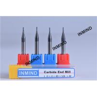 Wholesale Upto HRC50 AlTiN Coating , 1mm to 4mm Square End Mill , 4 Flute , Carbide end mill , Grain Size 0.8UM , from china suppliers