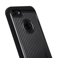 Quality Anti - Scratch Hard Pc Soft TPU Phone Protective Cover Electroplate Metal Texture for sale