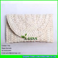 Wholesale LUDA 2014 calssical cornhusk straw handbag handmade lady straw bag natural purse from china suppliers