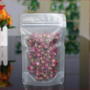 Quality Matte PE / PET Clear Stand Up Zipper Pouch Bags , Tea Sachet Flexible Pouch Packaging for sale