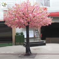 Wholesale UVG 3.5m tall artificial decorative trees with pink cherry blossoms for garden landscaping CHR028 from china suppliers