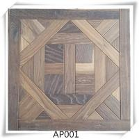 Buy cheap Oak parquet flooring , UV lacquer,Brushed, smoked, 15/4*600*600mm from wholesalers