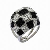 Wholesale Ring with Swarovski Jewelry, Sterling Silver Ring with Crystal from china suppliers