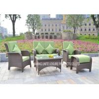 Wholesale Modern Style Rattan Bistro Set With Cushion , Outdoor Wicker Furniture Sets from china suppliers