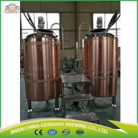Quality Copper Cladding Microbrewery brewhouse with Two Vessels for craft beer brewing for sale