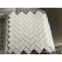 Wholesale Royal White Square Marble Floor Tiles Mosaic For Modern Decoration New Design White Royal Botticino Stone Mosaic from china suppliers