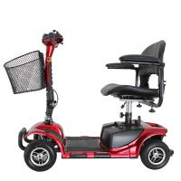 Wholesale Four wheel 9 inch disabled elderly electric mobility scooter 24V/180W from china suppliers
