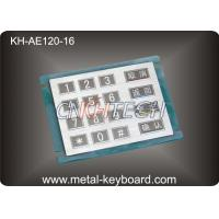 Quality 16 Keys Stainless Steel Numeric keypad In 4x4 Matrix , Vandal proof for sale