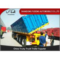 Wholesale 3 Axle 60CBM 100Ton Side Dump Semi Trailer Use To Coal Mine With HYVA Lifting System from china suppliers